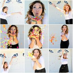 Fun idea for any adult or child photo shoot! DIY Confetti Push Pops + Birthday Fun with Connections by Hallmark #TrendyCards #shop