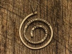 Silver Spiral Necklace by AhimsaDesigns on Etsy, $95.00