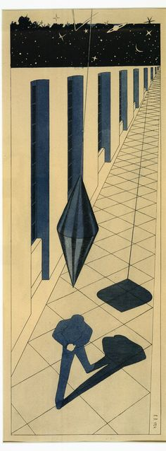 Klemens Brosch (Austrian, The Insane (Der Irrsinnige), 1926 Watercolor, pencils on paper Organic Structure, Rene Magritte, Surrealism, Geometry, Illustration Art, Photos, Kids Rugs, Paper, Drawings