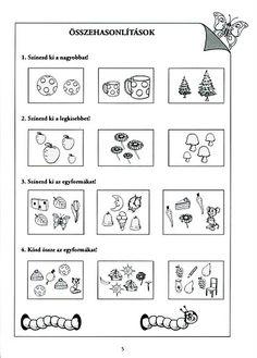 Albumarchívum - Mesés matematika Printable Activities For Kids, Preschool Activities, Prep School, Kindergarten Worksheets, Hush Hush, Kids Learning, Crafts For Kids, Journal, Archive