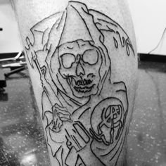 Sons of Anarchy linework  thanks for letting me put this on you @kregz937 #sonsofanarchy #soa #soatattoo #tattoo #tattooart #reapertattoo #reaper