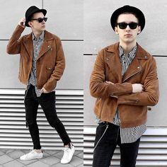 StreetFashion101 - Asos Suede Jacket, H&M Striped Shirt, Zara Jeans…