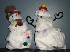 This is the second half the Sensational Snowman indoor winter activity . After the glue holding the 3 paper balls together dries, it's tim. Winter Activities, Activities For Kids, Paper Balls, Sensory Diet, Winter Craft, Sensory Processing Disorder, Snowmen, Craft Projects, Indoor