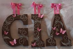 DIY: Wooden Letters for nursery.