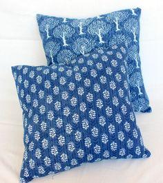 Cotton Square Office/Study Home Décor Pillows Dabu Print, Printed Cushions, Study Office, Shibori, Printed Cotton, Decorative Pillows, Textiles, Throw Pillows, Tie Dye