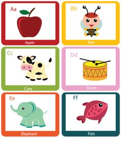 Counting with animals flashcards 1 6 cds theme crafts for Educational coloring pages abc flash cards