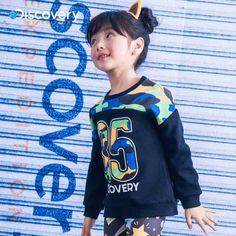 【送】Discovery男女童12017春季新款时尚印花套头卫衣DKA6104煦-tmall.com天猫