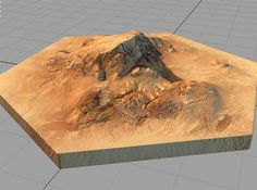 catan_desert_hexagon by tedparsec'