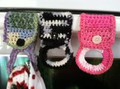 Crochet Tea Towel holders-great hostess gift- with tutorial by bethntim