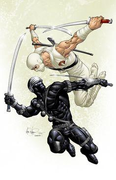 Snake Eyes vs. Storm Shadow