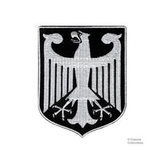 Top Quality Embroidered tallThis is a Cypress Collectibles Inc. The absolute highest detail and accuracy when it comes to flag patches. Albanian Tattoo, German Tattoo, Texas Outline, Iron Eagle, Eagle Logo, Flag Patches, Coat Of Arms, Ink Art, Applique