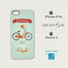 Bicycle iPhone 4 4s 5 or Samsung S3 Case. by CaseFase on Etsy, $18.00
