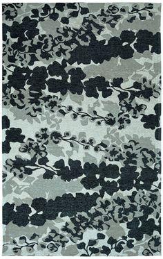 Element Black/Grey Floral Area Rug
