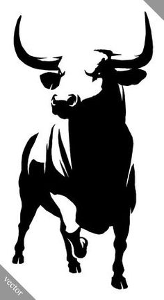 - Millions of Creative Stock Photos, Vectors, Videos and Music Files For Your Inspiration and Projects. Hirsch Silhouette, Silhouette Art, Stencil Painting, Painting & Drawing, Toro Vector, Bull Tattoos, Taurus Tattoos, White Art, Black And White