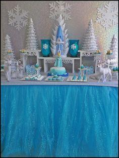 Disney Frozen Birthday Party dessert table