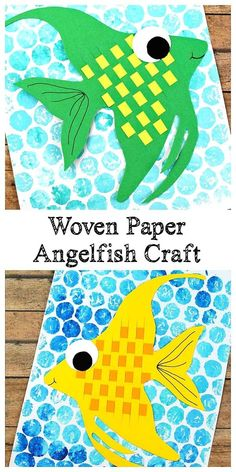 Colorful, Woven Paper Angelfish Craft for Kids! Woven Paper Angelfish Craft for Kids: Print a Toddler Art Projects, Easy Art Projects, Craft Projects For Kids, Fun Crafts For Kids, Art For Kids, Activities For Kids, Arts And Crafts, Craft Kids, Crafts For Children