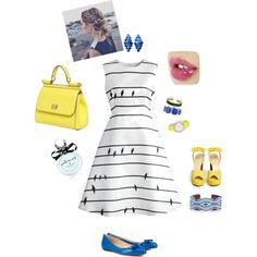 Sweet by pauvane on Polyvore featuring moda, Chicwish, Charlotte Olympia, Christian Louboutin, Dolce&Gabbana, Chan Luu, Sonoma life + style, Timex and Kate Spade