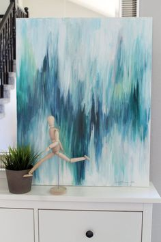 Articles similaires à Large, Original Painting-Ikat inspired with Deep Greens and Blues Abstract-Second in the series sur Etsy Painting Inspiration, Art Inspo, Diy Wall Art, Diy Artwork, Original Paintings, Art Paintings, Abstract Paintings, Abstract Portrait, Matisse Paintings