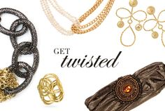 Don't restrict your fashion sense. Think outside the lines with golden coils and loops of chains, forget limitations with gorgeous infinity scarves, and stretch yourself with simple yet stunning bands from Pink Pewter.