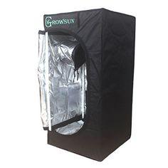 "Hydroponic Grow Tent Reflective Mylar Indoor Growing Room 15""x15""x35""  #Growsun"
