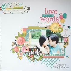 Designed by creative team member Stacy Koo using our Carpe Diem scrapbook collection