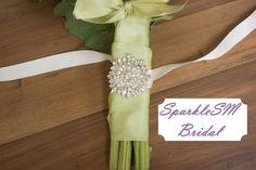 Bouquet Wrap, Crystal Bouquet Wrap, Bouquet Jewelry, Bouquet Holder, Brides Bouquet, Ribbon Bouquet Wrap, Flower Wrap, Bridal Bracelet by SparkleSMBridal on Etsy https://www.etsy.com/listing/190713949/bouquet-wrap-crystal-bouquet-wrap
