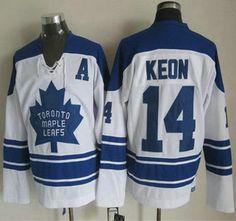 Toronto Maple Leafs Jersey 14 Dave Keon 1966-67 White CCM Vintage Throwback Jerseys