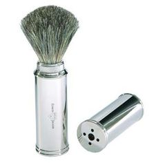 Edwin Jagger Badger Travel Shaving Brush in Metal Case