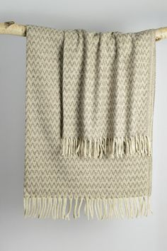 Lambswool blanket woven in the mountains of Mexico. Inspired by the traditional 'serape' cowboys blankets.   Decorator's Notebook