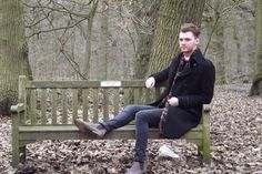 Groovy bench ay? Belfairs Woods, experimenting with human photography