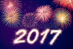 Descargar - Feliz año nuevo 2017 — Imagen de stock #122680692