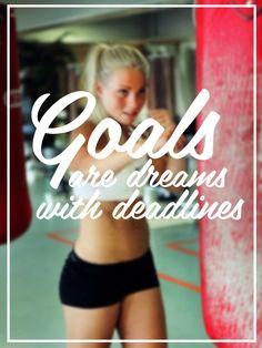 Goals Are Dreams With Deadlines - see more inspirational pics at vollanza.com