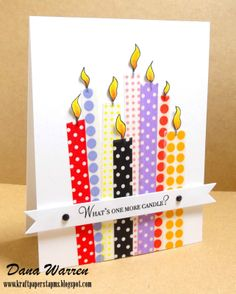 Dana Warren - Kraft Paper Stamps - Washi Tape - Papertrey Ink