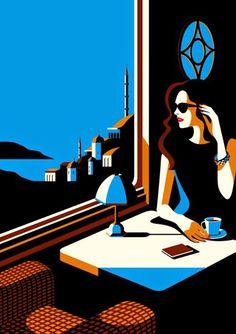 Malika Favre (b.1982) — Orient Express (500×708)