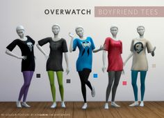 Overwatch Boyfriend Tee/Dress by Kya Sarin at Mod The Sims • Sims 4 Updates