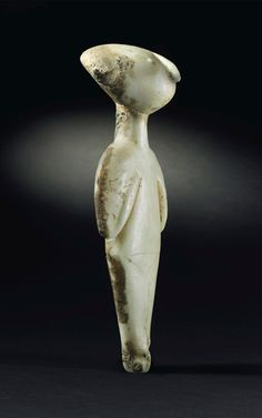 An anatolian marble female idol of Kiliya type. Chalcolithic period, c. 3000-2200 BC. 9 in (22.9 cm) high. Estimate Estimate on request. This lot is offered in Exceptional Sale on 28 April 2017, at Christie's in New York