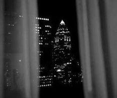 night city through window dark aesthetic with lights Gray Aesthetic, Night Aesthetic, Black And White Aesthetic, Black N White, Black Neon, We Heart It, Night City, Happy Weekend, City Lights