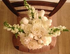 always white... roses, tulips & snapdragons ~  from patricia breen