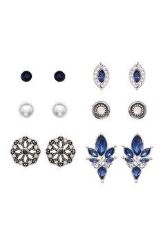 Montana Mixed Stud Earrings Set - Set of 6