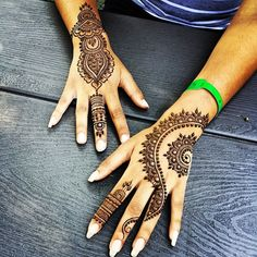 "10.9k Likes, 760 Comments - Divya Patel (@hennabydivya) on Instagram: ""Re-created two of my designs for the sweet & bubbly, Abena! (on request) @abena_ah  #henna…"""