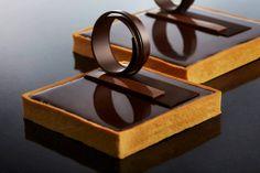 Gianduja Tart created by Cacao Barry ambassador Chef Rocco Lugrine.