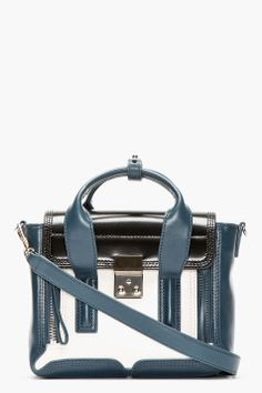 Slate & cream Pashli Mini Satchel - 3.1 Phillip Lim. If I go back to school, this satchel that is too small to hold any books could be my book bag, right?  RIGHT?