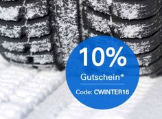 Ebay: Zehn Prozent Rabatt auf Winterreifen bis Mittwoch https://www.discountfan.de/artikel/technik_und_haushalt/ebay-zehn-prozent-rabatt-auf-winterreifen-bis-mittwoch.php Es ist soweit: Der erste Bodenfrost ist da. Spätestens jetzt sollte man auf Winterreifen wechseln. Wer neue Pneus braucht, bekommt bei Ebay noch bis Mittwoch einen Sonder-Rabatt von zehn Prozent. Ebay: Zehn Prozent Rabatt auf Winterreifen bis Mittwoch (Bild: Ebay.de) Um an den Ebay-Rabatt von ... #Auto,