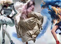 Vogue UK 2008 izquierda: Alexander McQueen (s/s centro: Yohji Yamamoto (a/w derecha: John Galliano (Haute Couture Foto Fashion, Vogue Fashion, Fashion Art, Editorial Fashion, Fashion Design, Fashion Collage, Beauty Editorial, Fashion Images, Fashion Shoot