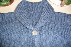 Une veste bien chaude col châle pour enfant - La Malle aux Mille Mailles