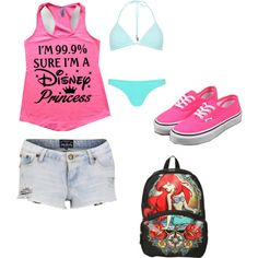 A fashion look from July 2014 featuring Disney tops, Tokyo Laundry shorts and Disney backpacks. Browse and shop related looks.