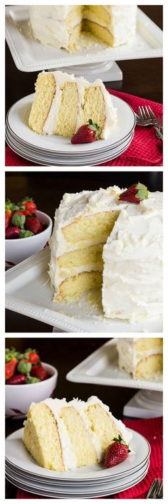 Almond Cake with amaretto filling and almond buttercream. The best almond-flavored cake you can imagine. SpicySouthernKitchen.com #white_frosting #cake_recipes
