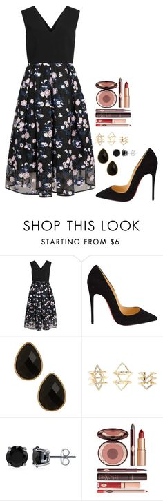 """""""Untitled #492"""" by h1234l on Polyvore featuring Erdem, Christian Louboutin, Natasha Accessories, Charlotte Russe, BERRICLE and Charlotte Tilbury"""