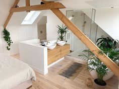 Home Remodel Interior .Home Remodel Interior Loft Room, Bedroom Loft, Attic Loft, Attic Rooms, Bathroom Interior, Attic Bathroom, Bathroom Inspiration, Cheap Home Decor, Home Remodeling