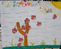 Pin the angry bird